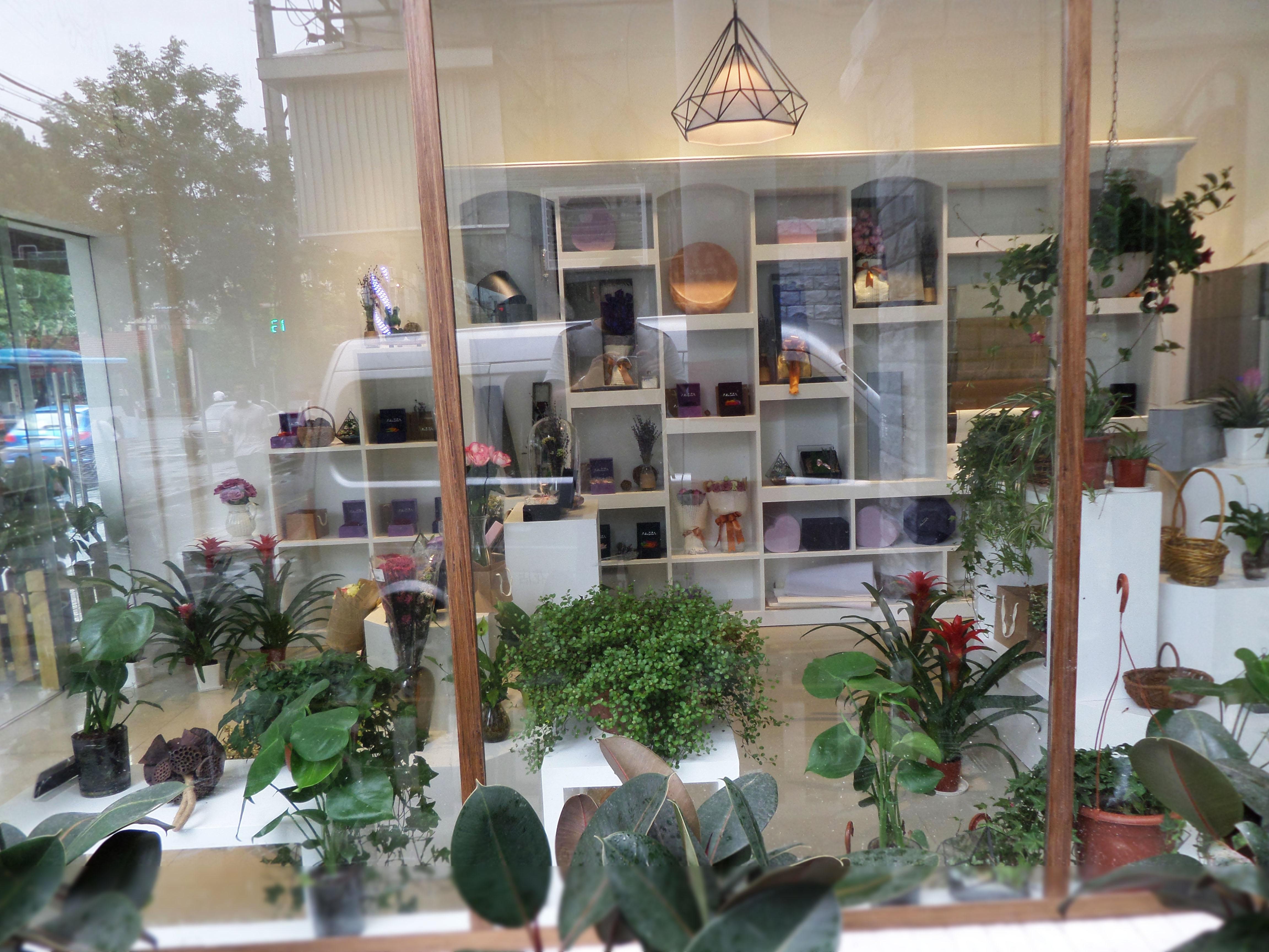 南京花店橱窗展示